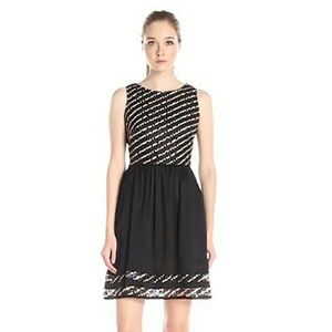 Taylor Dresses Dresses & Skirts - NWT Taylor Dresses Black Striped Fit & Flare Dress