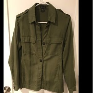 TopShop olive green button down