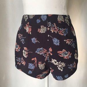 UO Kimchi Blue navy floral shorts