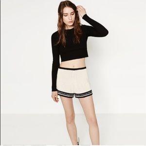 Knit Zara High Waisted Shorts