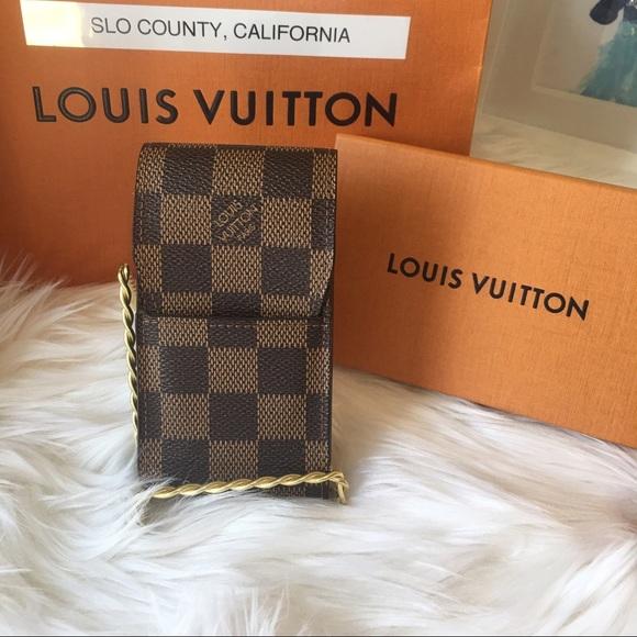 f0cf133de49 Louis Vuitton Other - Authentic LV cigarette case Damier ebene