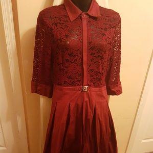 Acevog Dresses & Skirts - Red lace dress