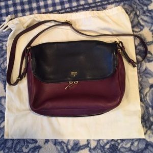 Two tone fossil Preston crossbody