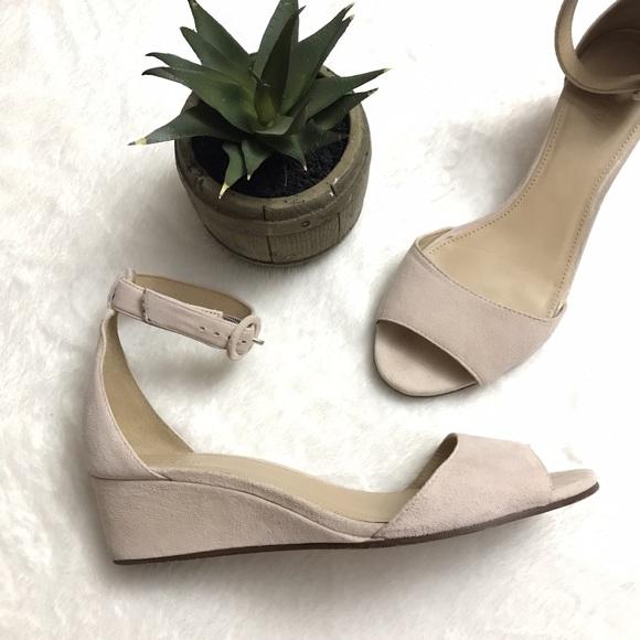 e078c76f7c48 J. Crew Shoes - J. CREW Laila Suede Wedges Nude Blush Pink