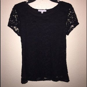 Annalee + Hope Tops - Black Lace Top