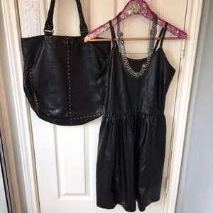 Adam Levine Collection Dresses & Skirts - Adam Levine Pleather Vegan Leather Dress! size L
