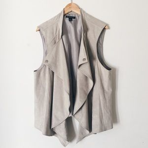 •INC• Draped OpenKnit Vest