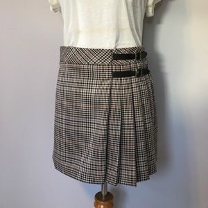 Jessica Faulkner Plaid Wrap Skirt