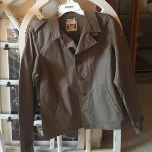 RUFF HEWN Military Fatigue Style Jacket NWT