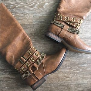 Not Rated Shoes - Tan Knee High Boots