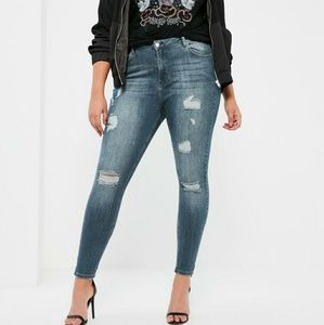 Missguided + Denim - Missguided High Waisted Skinny Jeans