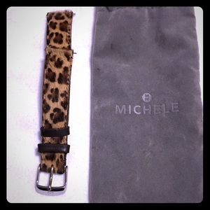 Michele Accessories - 18mm Michele Animal print watch strap