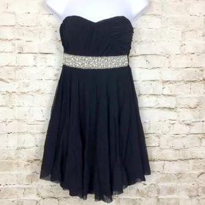 ASOS Mesh Strapless Cocktail Little Black Dress