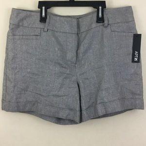 Apt.9 Pants - Dressy sparkling cuffed gray silver shorts