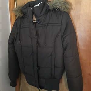 no boundries Jackets & Blazers - Brown puffer jacket