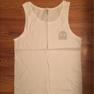 Other - Ghost label white tank with silver ghost