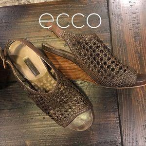 Ecco Shoes - ecco Open Weave Wedge Heels, 40