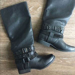 Not Rated Shoes - Black Knee High Boots