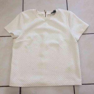 Topshop Tops - Topshop Off White Cushion Shirt