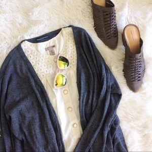 BRANDY MELVILLE dark grey long sleeve cardigan