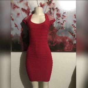 Dresses & Skirts - Red bandage dress one size.