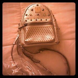 MCM Handbags - MCM Special Stark X-Mini Backpack - Silver