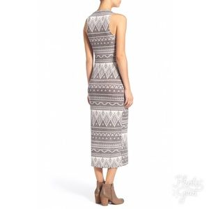 Jella C Tribal Print Midi Dress