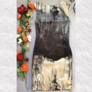 Zara Dresses & Skirts - Zara Watercolor Sleeveless Crew Neck Sheath Dress