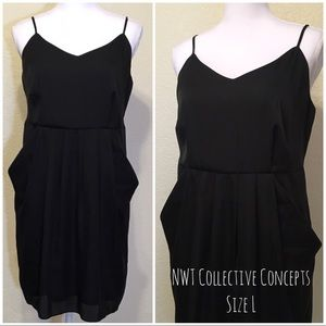 NWT Collective Concepts Black Dress