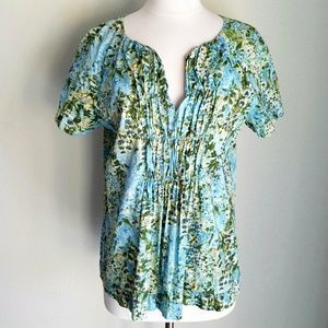 Talbots Tops - Talbots Sunflower Floral Cotton Peasant Blouse