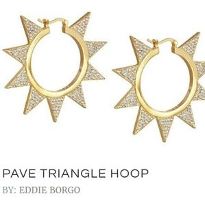 EDDIE BORGO Jewelry - RARE EDDIE BORGO TRIANGLE HOOP EARRINGS