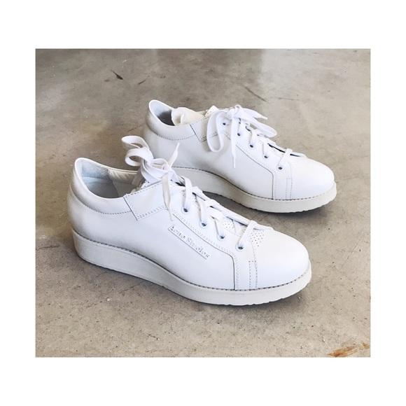 7ef96fb7962 Acne Shoes   Brand New Studios White Leather Kobe Sneakers   Poshmark