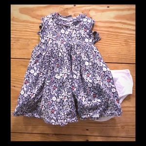 Baby CZ Other - Liberty print dress with white diaper cover panty
