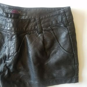 EUC Zara TRF Faux Leather Shorts