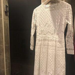 Dresses & Skirts - BNWT White Lace a-line dress - size large