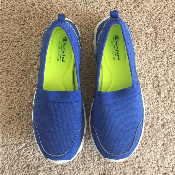 280c40fca49 Champion Shoes - Champion • Blue Slip Ons