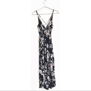 Astars Dresses & Skirts - Wrap floral black dress. Maxi with a split.