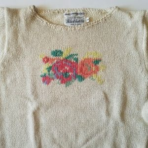 Vintage Robert Scott Ltd. Cropped Hand Embroidered