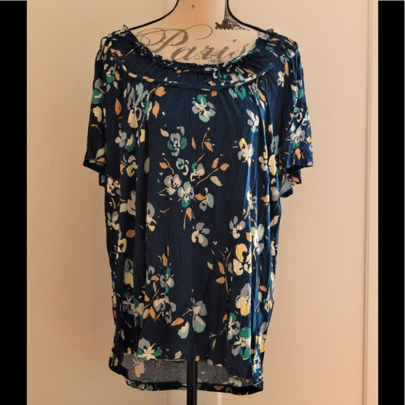 Merona Tops - Merona Soft Blue Floral Top
