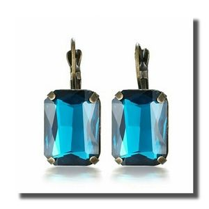 eManco Jewelry - Blue Crystal & Copper Earrings by eManco