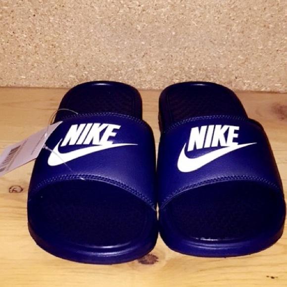 a957781e8678 Men s NAVY Nike slides