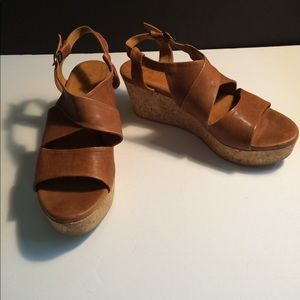 Coccoli Shoes - Coclico Wedge Sandals Size 8.5