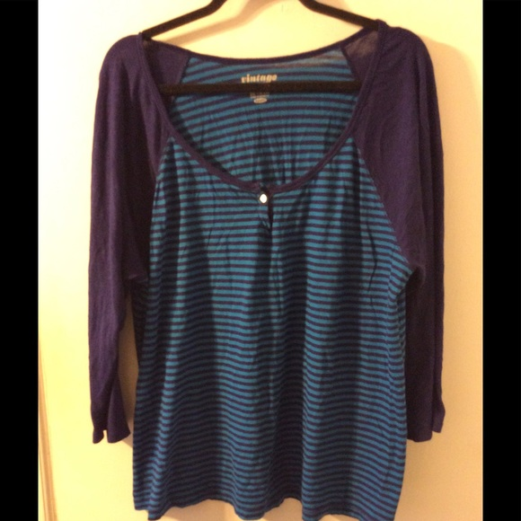 65 off old navy tops old navy blue striped long sleeve for Navy blue striped long sleeve shirt