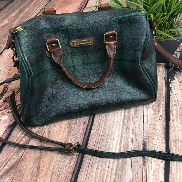 e3acb4f6d6 Polo by Ralph Lauren Plaid Doctor bag purse. M 593c0829620ff7c6980046ee