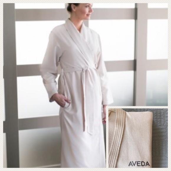 Aveda Intimates Amp Sleepwear Kimono Style Waffle Spa Robe