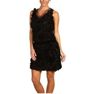 Robert Rodriguez Petaled LBD Dress