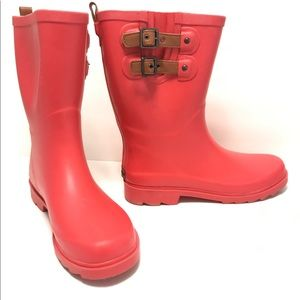 Chooka Shoes - CHOOKA Rain Boots Dual Strap Mid-Tulip Red 10