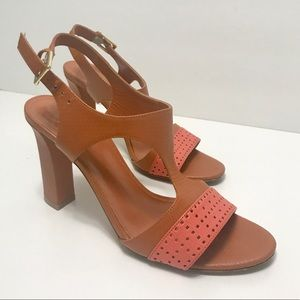 Hugo Boss Shoes - HUGO BOSS Leather Brown Salmon Heels Shoes 38.5