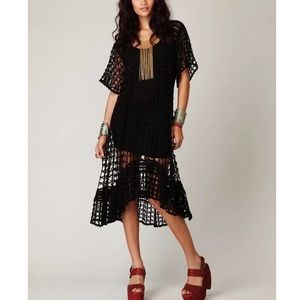 FREE PEOPLE Maxi Dress Intricate Long Draped Gown