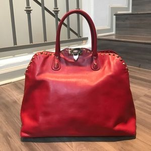 Valentino Handbags - VALENTINO ROCKSTUD RED LEATHER PURSE